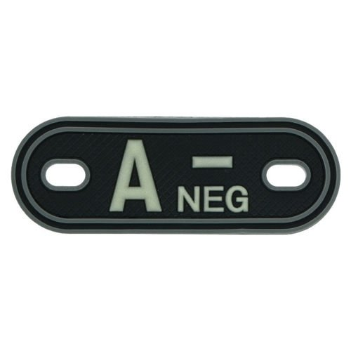MFH Dog Tag 3D with Blood Type A- Black