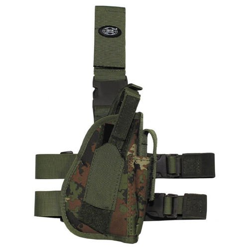 MFH Right Tactical Leg Holster Vegetato Woodland
