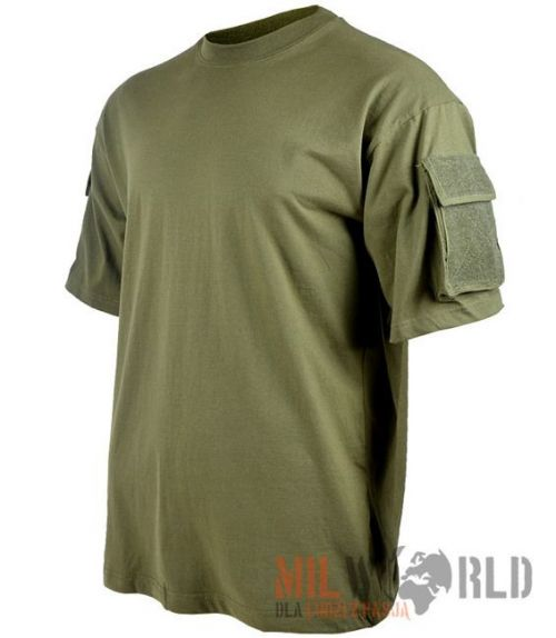 MFH US T-Shirt with Sleeve Pockets Olive