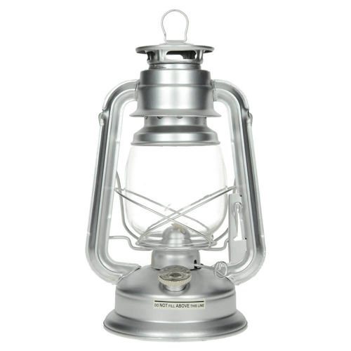 Max Fuchs Kerosene Lamp 30cm height Silver