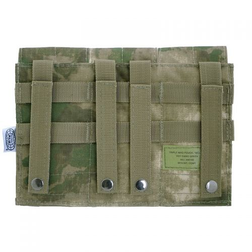 MFH Triple Mag Pouch MOLLE HDT Camo Green