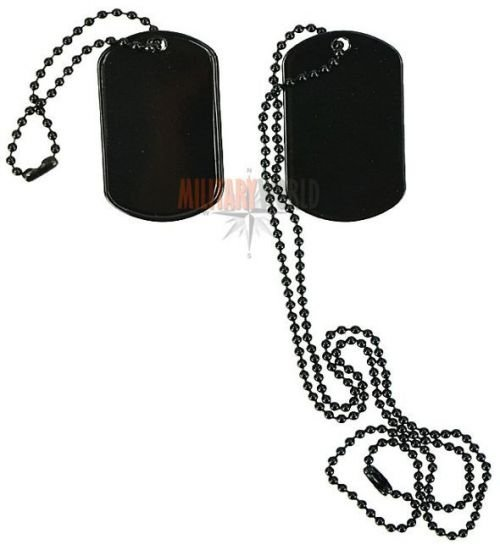 Max Fuchs US Dog Tag Set Black 2pcs