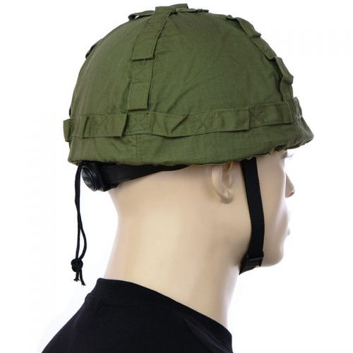 MFH US Helmet with Cloth Cover Olive