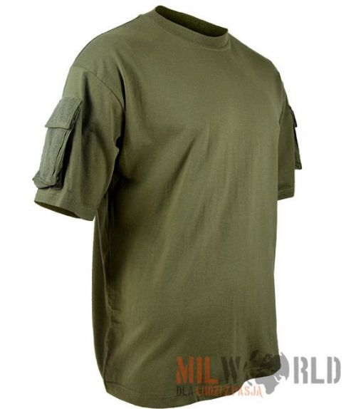Max Fuchs US T-Shirt with Sleeve Pockets Olive