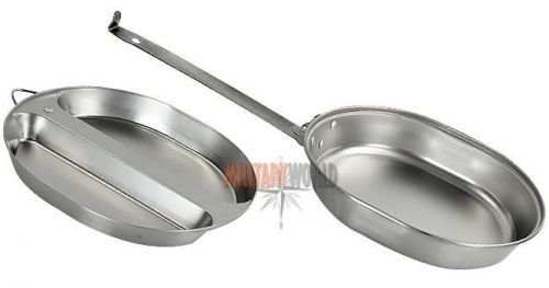 Mil-Tec 2-piece Mess Tin with a Handle Silver