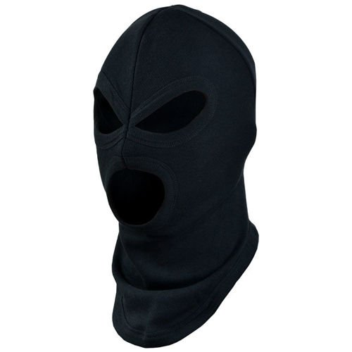 Mil-Tec 3–Hole Under Helmet Balaclava Black
