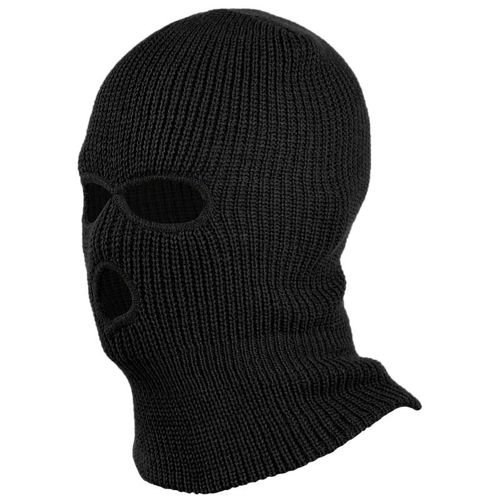 Mil-Tec 3–Hole Warm Pan Balaclava Black