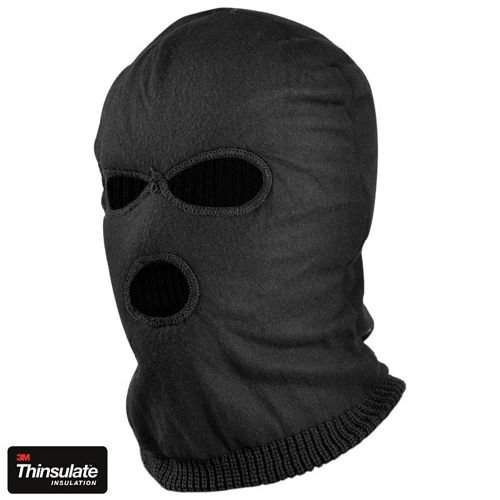Mil-Tec 3–hole Thinsulate™ Balaclava Black