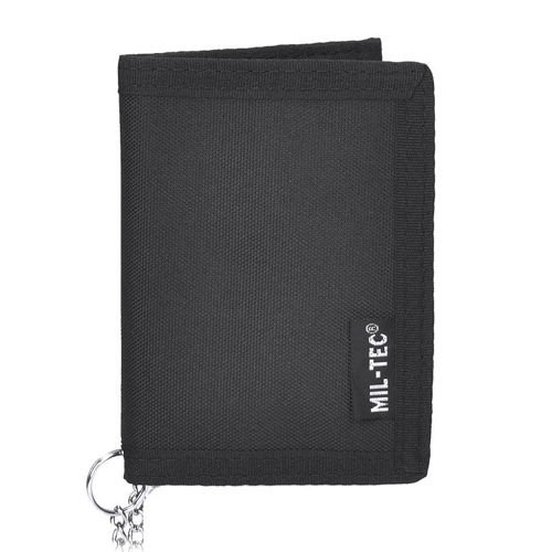 Mil-Tec Black Wallet with a Chain Black