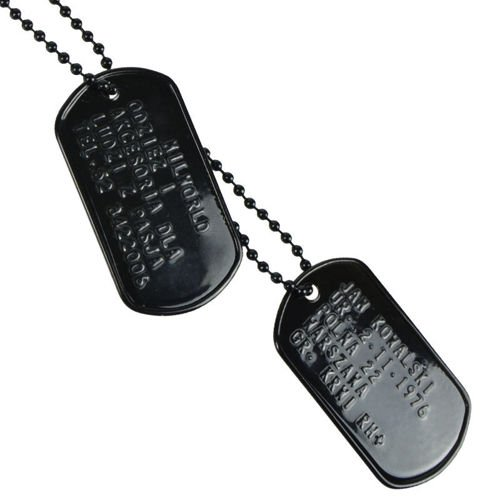 Mil-Tec Dog Tags with Your Text Black