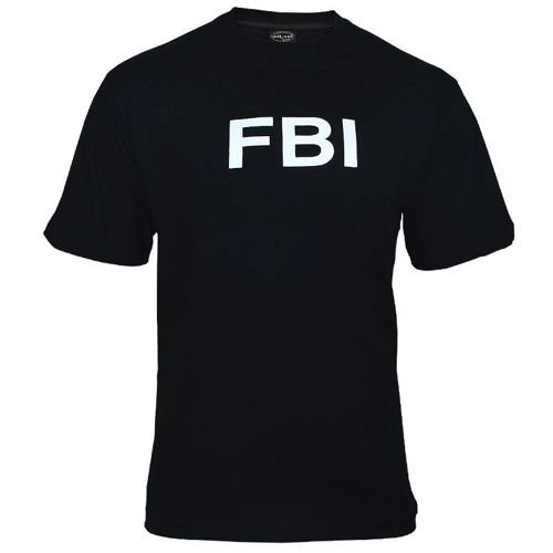 Mil-Tec FBI T-shirt Black