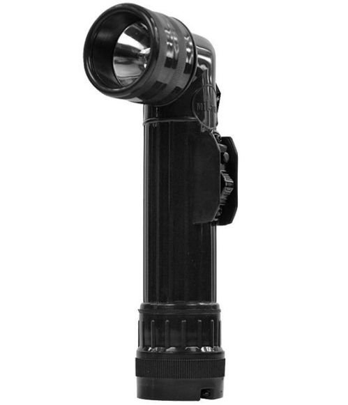 Mil-Tec Large Anglehead Flashlight 22cm Black