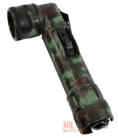 Mil-Tec Large LED Anglehead Flashlight 21cm Flecktarn