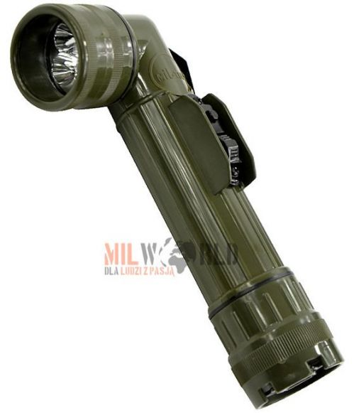 Mil-Tec Large LED Anglehead Flashlight 21cm Olive