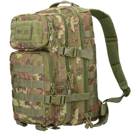 Mil-Tec MOLLE Tactical Backpack US Assault Small Vegetato Woodland