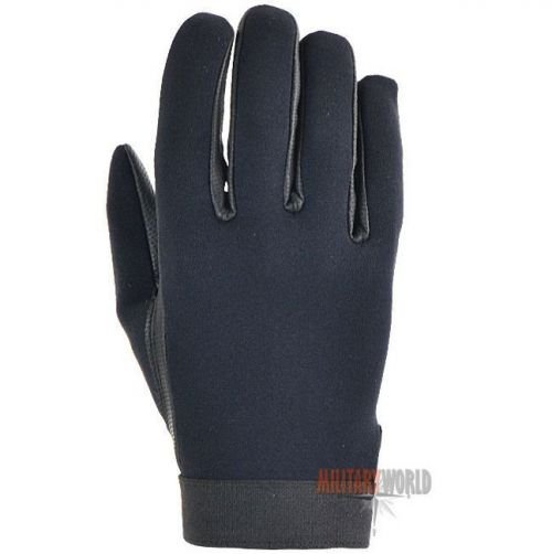 Mil-Tec Neoprene Leather Gloves Black