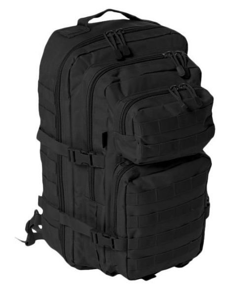 Mil-Tec One Strap Shoulder Rucksack Large Assault Black