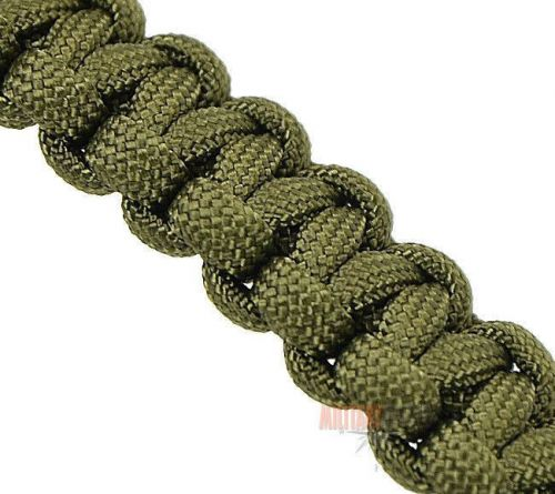 Mil-Tec Paracord Bracelet 15mm w. Metal Closure Olive