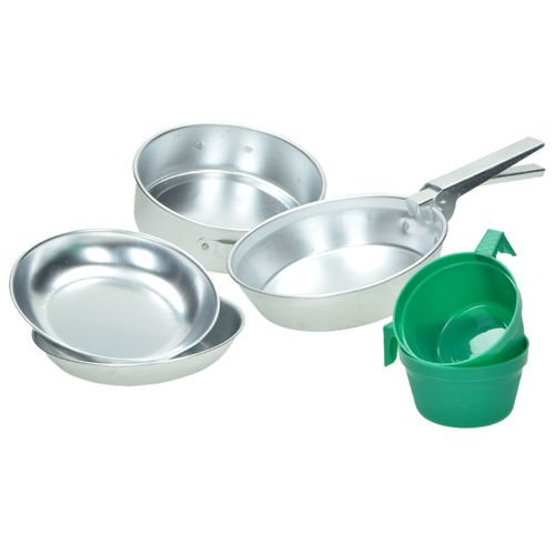 Mil-Tec Polished Aluminum Cook Set for Two People
