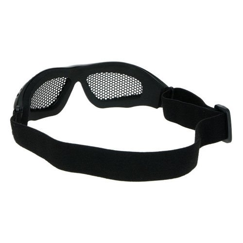 Mil-Tec Protective Goggles with Steel Net Black