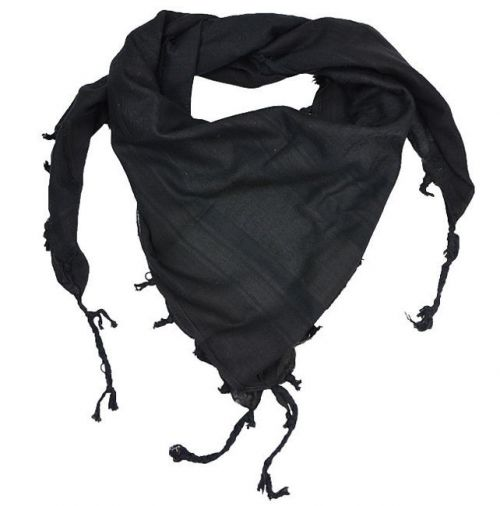 Mil-Tec Shemagh Scarf Black Smooth