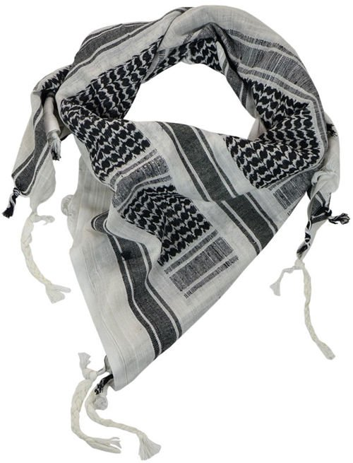 Mil-Tec Shemagh Scarf Black/White