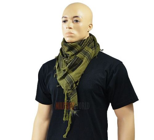 Mil-Tec Shemagh Scarf Oliv/Black