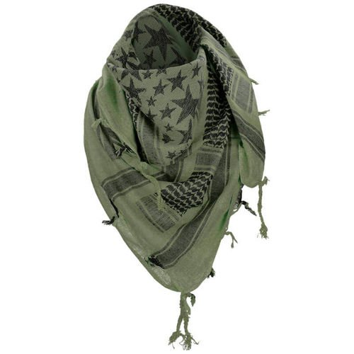 Mil-Tec Shemagh Scarf Stars Olive