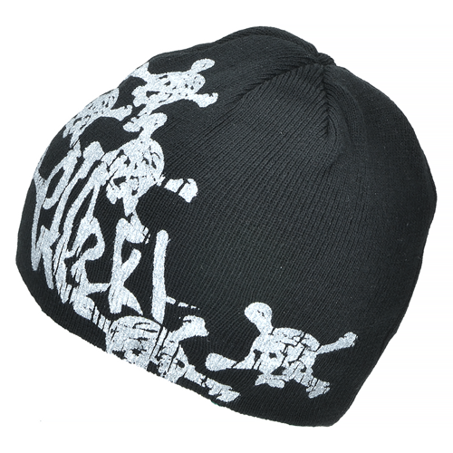 Mil-Tec Skull Winter Cap Beanie Black