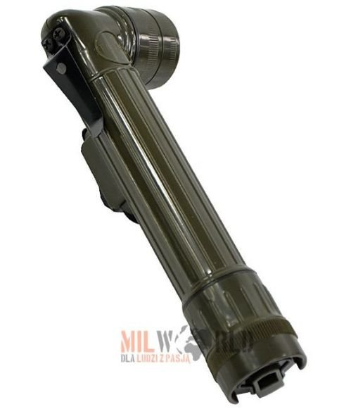 Mil-Tec Small Anglehead Flashlight 16cm Olive