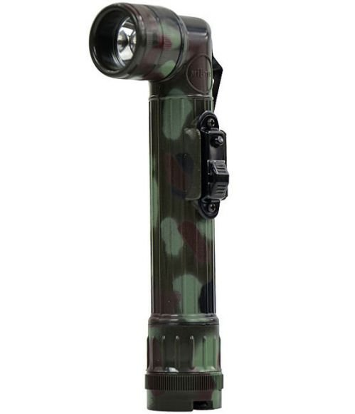 Mil-Tec Small LED Anglehead Flashlight 16cm Flecktarn