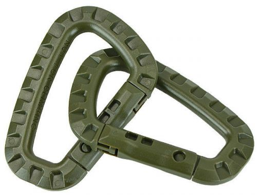 Mil-Tec Spring hooks ABS Set 2 Pieces Olive