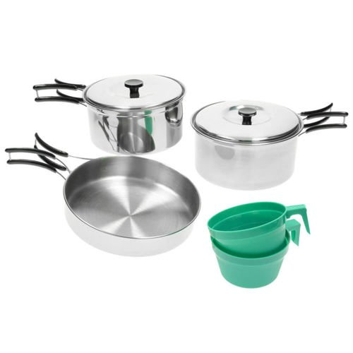 Mil-Tec Steel Cook Set for Two People