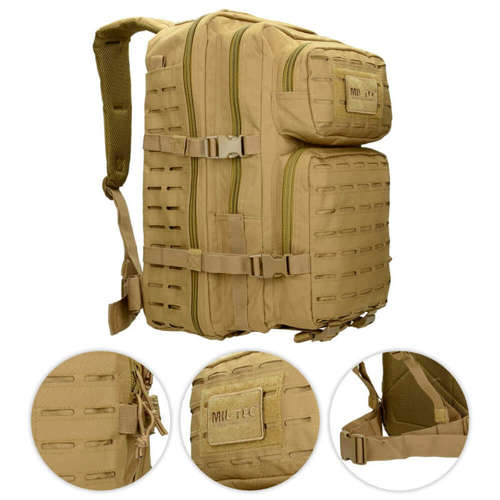 Mil-Tec Tactical Laser Cut Backpack 36L Coyote