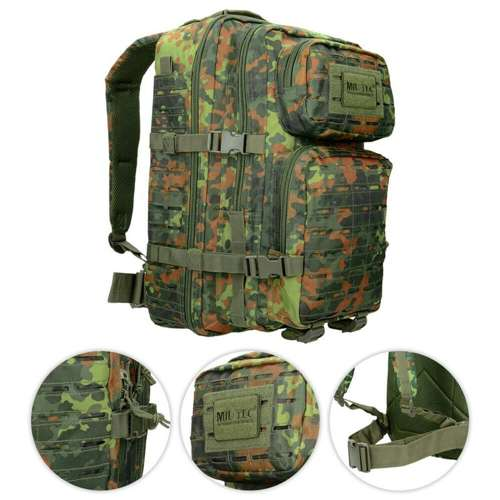 Mil-Tec Tactical Laser Cut Backpack 36L Flecktarn
