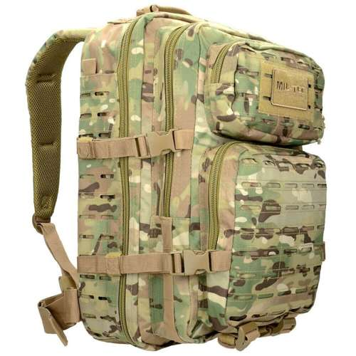 Mil-Tec Tactical Laser Cut Backpack Large Multitarn