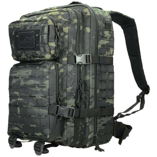 Mil-Tec Tactical Laser Cut Backpack 36L Multitarn Black