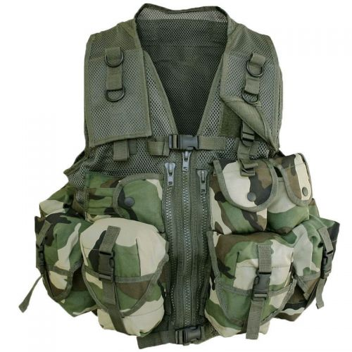 Mil-Tec Tactical Vest 9 Pockets Woodland