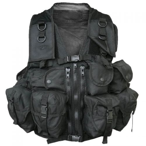 Mil-Tec Tactical Vest US 9 Pockets Black