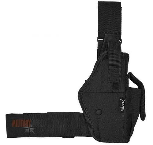 Mil-Tec Thigh Holster Right Olive Black