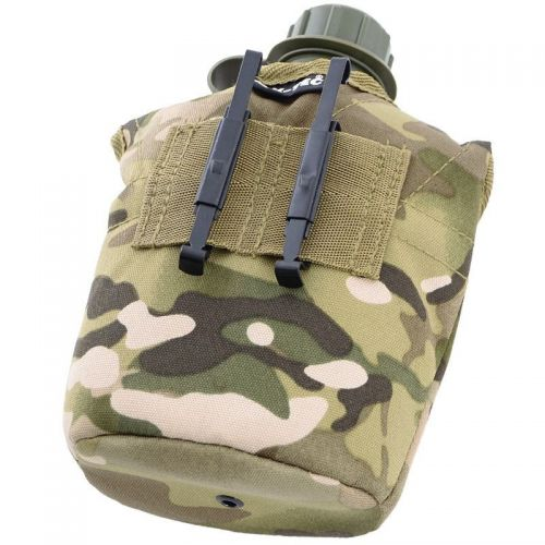 Mil-Tec US Plastic Canteen with Cup LC2 Multicam