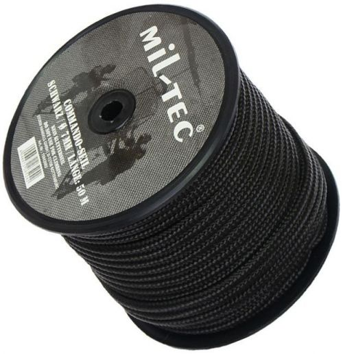 Mil-Tec Universal Rope Survival 50m/7mm Black  [a roll]