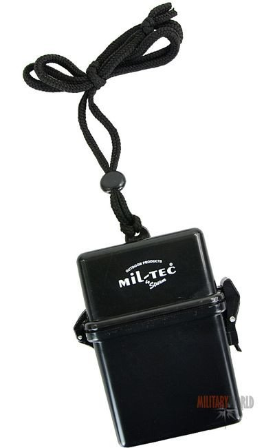 Mil-Tec Waterproof Box for Cigarettes Black