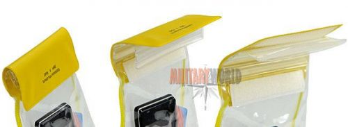 Mil-Tec Waterproof Neck Wallet Inflatable 130/200mm Yellow