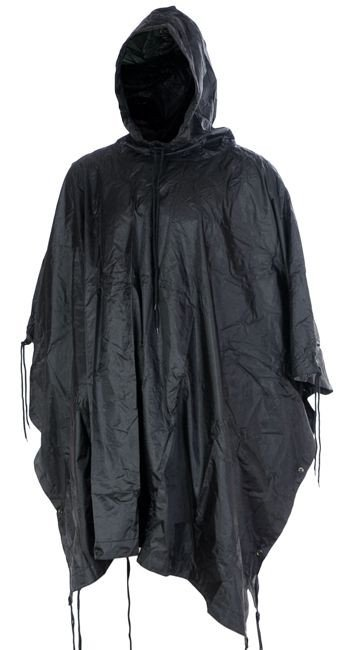 Mil-Tec Wet Weather Poncho Black