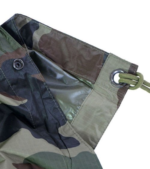 Mil-Tec Wet Weather Poncho Woodland