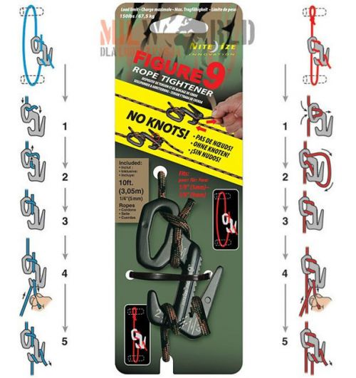 Nite-Ize Anchor Carabiner Figure 9 with Cord Camo