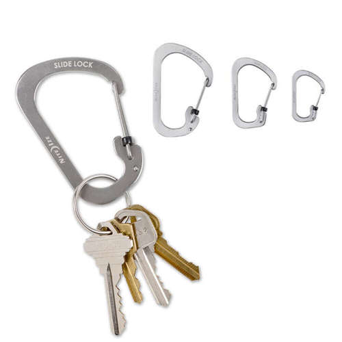 Nite-Ize Carabiner SlideLock Set of 3 pcs. Silver
