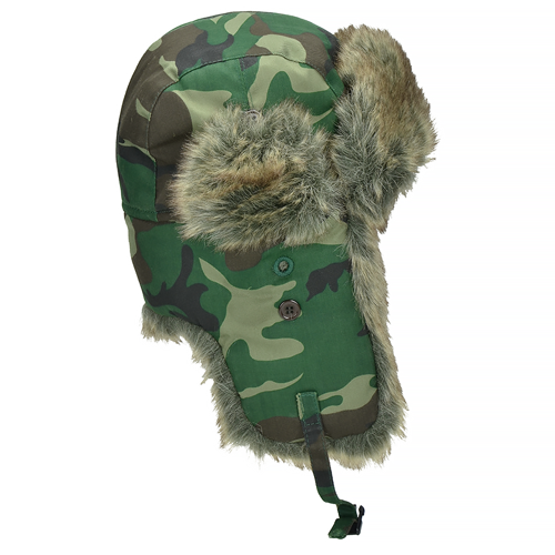 Pro-Force Hat with Ear Flaps Woodland