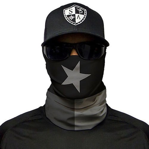SA Co. Face Shield™ Blackout Texas State Flag